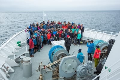 Antarctica team on ship