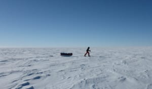 Pulling a sled in Antarctica